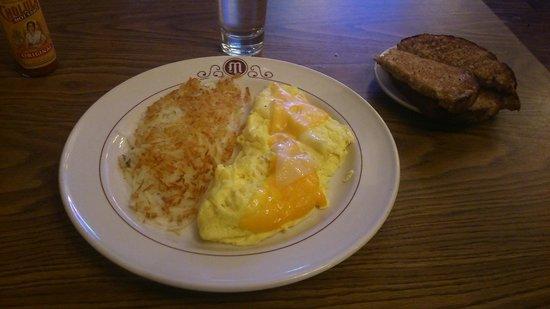 Mizpah Hotel : Omelette au petit déjeuner