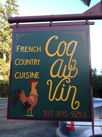 Coq Au Vin: Cute sign