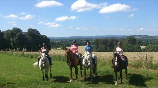 Mount Juliet Estate : Having pretended we're racehorses up the gallops!
