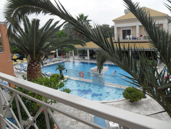 Kavos Plaza: View from our balcony, Room 201