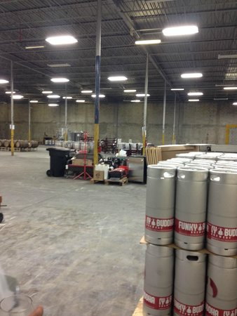 Funky Buddha Brewery: Kept in cooler, they are expanding the warehouse