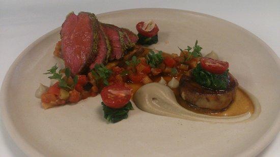 ABode Restaurant: Daphne's Welsh Lamb, Loin, Breast, Confit Shoulder, Lamb Jus