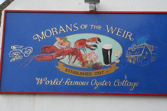 Morans Oyster Cottage : l'enseigne