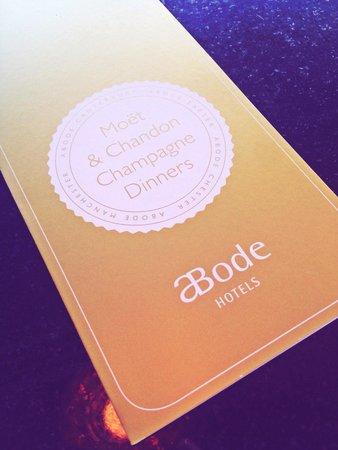 ABode Restaurant: Moët Chandon - Champagne Dinner