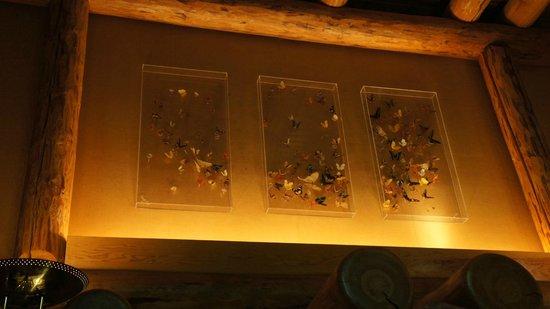 Fontanel Mansion: Butterflies in Master bedroom