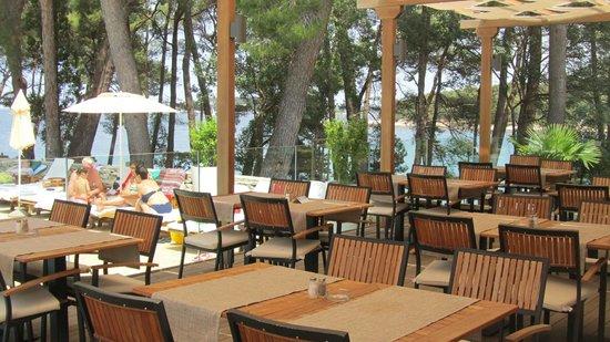 Villa Laguna Galijot: Speisesaal Terrasse