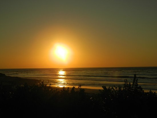The Last Word Long Beach: Sunset over the beach