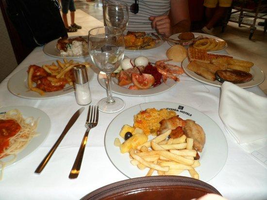 Evenia Zoraida Garden: buffet comida