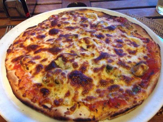 David's: Seafood pizza.....