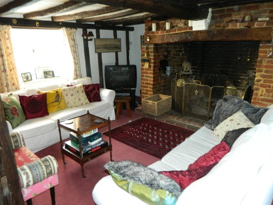 Warners Farm Bed Breakfast Guest Sitting Room With Inglenook Fireplace And Plenty Of Firewood