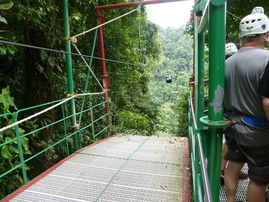 Costa Rica Sky Adventures - Arenal Park: Coming in for a Landing