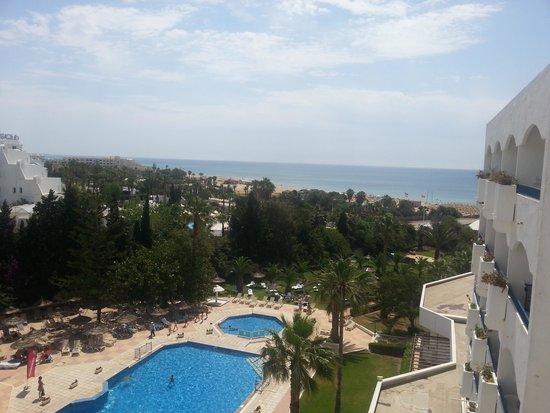Hotel Club President: panorama dal balcone stanza 539