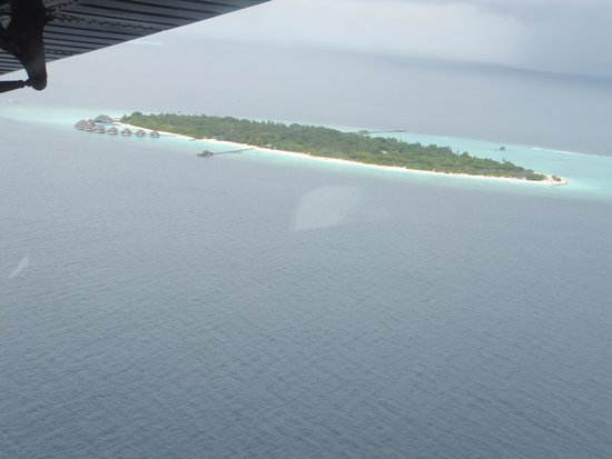 Adaaran Select Meedhupparu : View of Meedhupparu from the seaplane