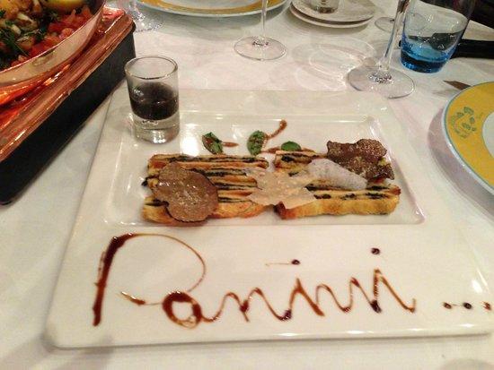 Le Miramar : Panini aux truffes