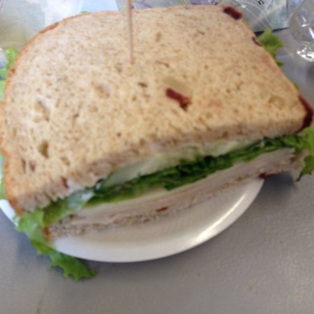 Eagles Lighthouse Cafe: This is only half of the sandwich.  Huge!!  Delicious.  Freshly made!!