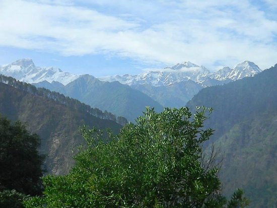 Himalayan Comforts: View of the peaks...