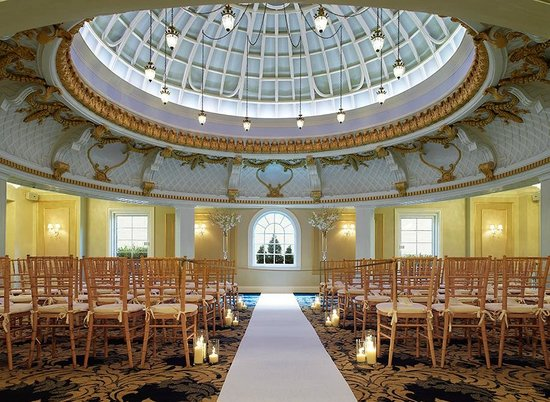 Lenox Hotel Dome Room Wedding Ceremony Set Up