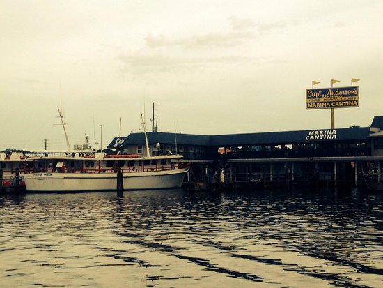 Capt. Anderson's Restaurant : View from my boat