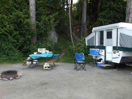 Living Forest Oceanside Campground & RV: Big Campsites