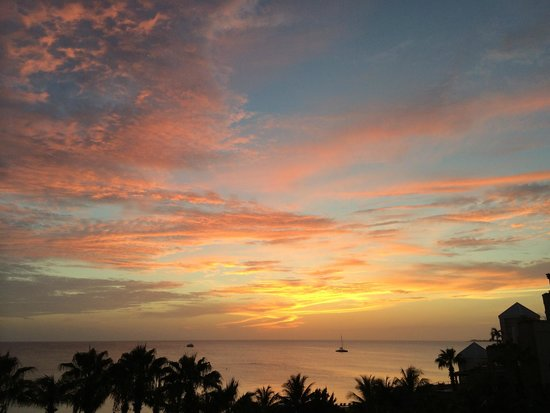 The Ritz-Carlton, Grand Cayman : Sunset from Fifth Floor