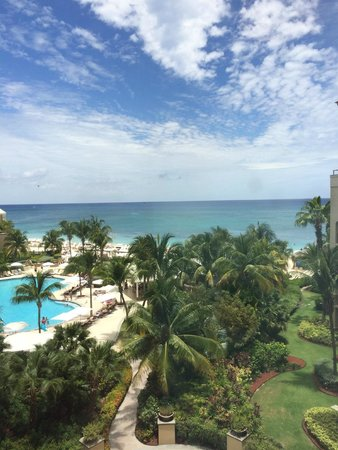 The Ritz-Carlton, Grand Cayman : View from Fifth Floor hall window