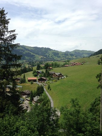 The Alpina Gstaad: View from first floor balcony
