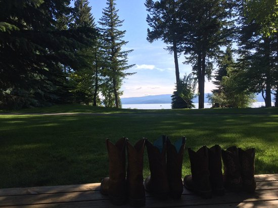 Averill's Flathead Lake Lodge: View from the cabin