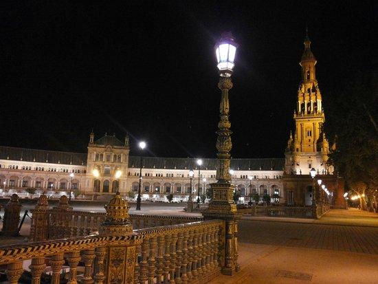 Plaza de España: Ночью