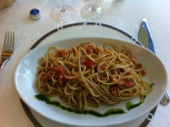 Ristorante Della Baia: Pasta con almejas