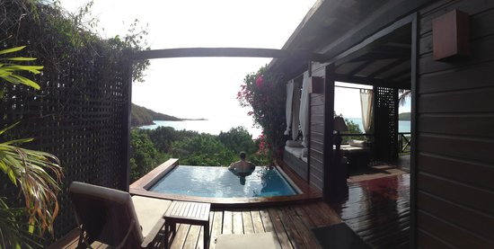 Hermitage Bay : Our view for a week.
