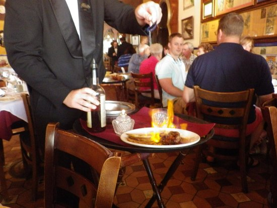 The Columbia Restaurant : Our Chacho being flambe'