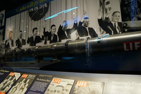 U.S. Astronaut Hall of Fame: Example of the timeline display