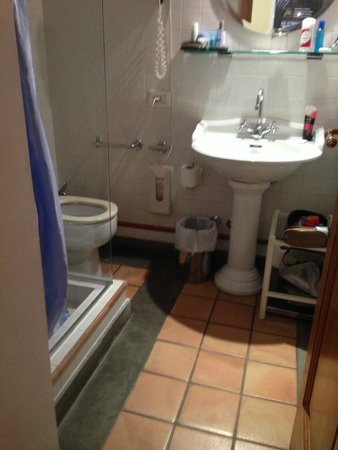 Hotel Locanda Cairoli: Tiny bathroom not advertised