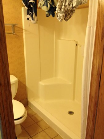 Country Inn & Suites By Carlson, Lincoln North Hotel and Conference Center: No tub, but large shower