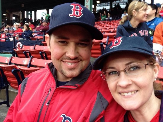 Our first fine to Fenway park with the love of my life :-)