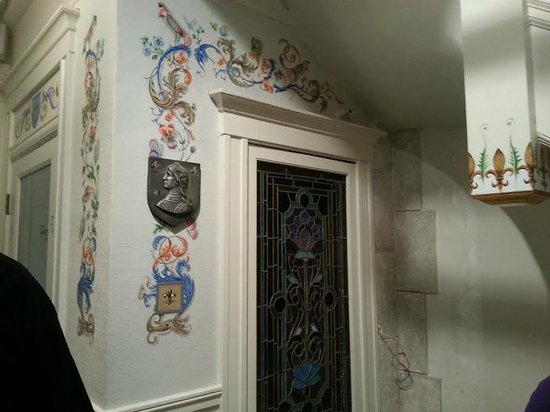 Cornell Hotel de France: One of many hand painted designs in this hotel.