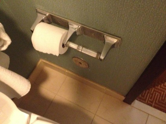 Hyatt Place Austin/Arboretum: TP roll left empty and gross for 2 days after housekeeping