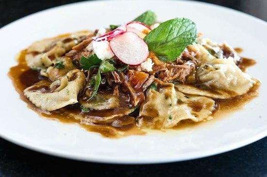 Vitea: Sweet potato ravioli with pulled pork
