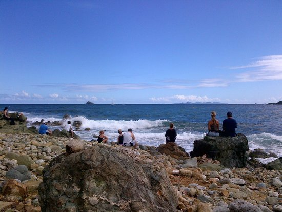 Tri-Sport Eco Tours: Enjoying the view at the half way point - Scenic Coastal Hike