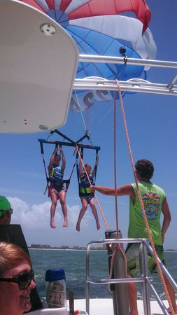 Eagle Parasail: Going up!