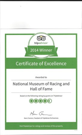 National Museum of Racing and Hall of Fame: 2014 winner