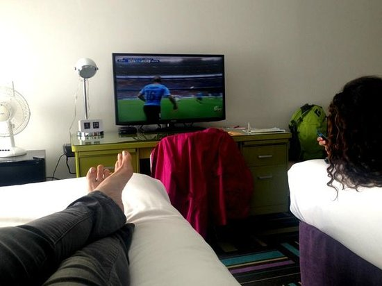 Hotel Zed: Kicking back watching the World Cup