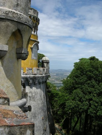 Yellow Bus Tours Lisbon : View from Sintra Castle--toward the sea