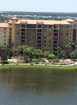 Wyndham Bonnet Creek Resort: Vista da varanda, fundo Disney
