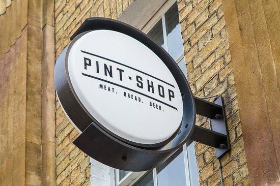 Pint Shop sign, Cambridge