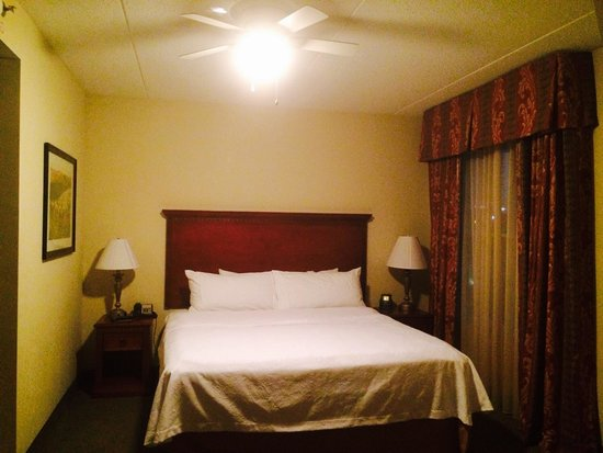 Homewood Suites by Hilton Lexington - Hamburg : Our 1 King/1 Bedroom Suite - so thankful for the ceiling fan!