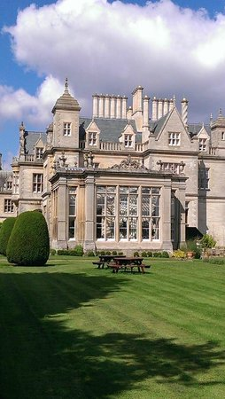 Stoke Rochford Hall: View of side of Hotel