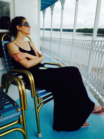 Riverboat Twilight: Tell me that doesn't look comfy.