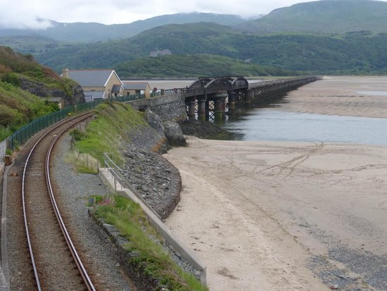 Barmouth Bridge from the road