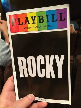 Rocky Broadway: Playbill Cover